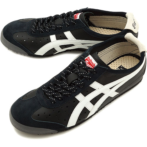 newest c4c25 64227 ONITSUKA TIGER onitsuka tiger MEXICO 66 BLACK WHITE TH2R4L-9001