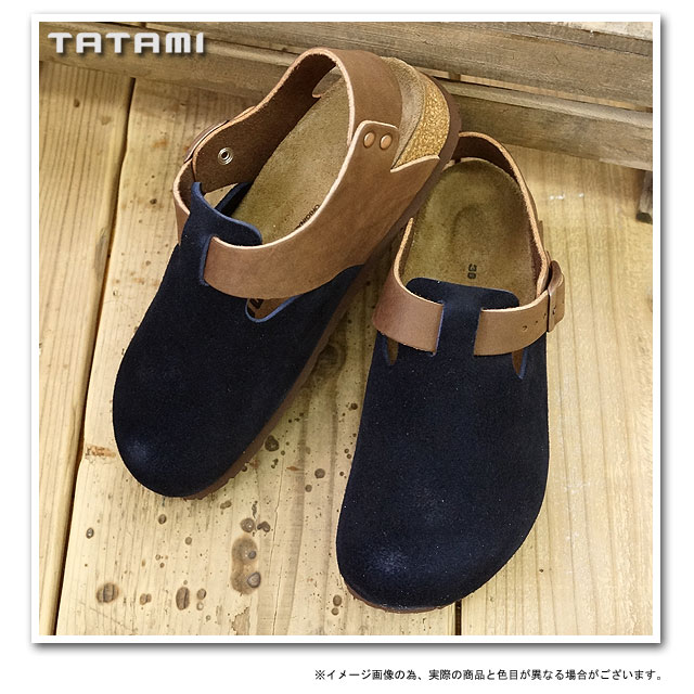 Navy Sandals TATAMI tatami Durban Durban suede/leather / dark brown ( BM893003 FW12 ) /BIRKENSTOCK Birkenstock Womens mens