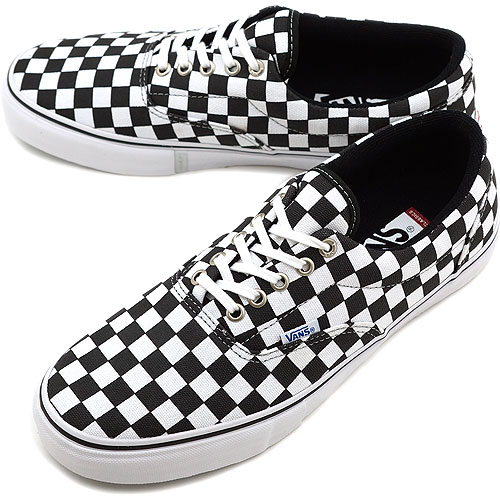 vans era checkerboard black