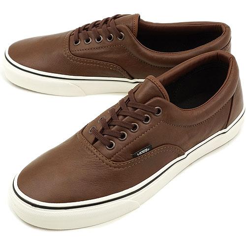 4912b44f6f □□VANS vans sneakers CLASSICS ERA classical music gills (AGED LEATHER) BROWN  (VN-0QFK75J HO12)
