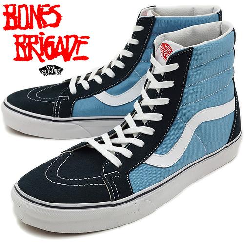 4668ac0179 □□VANS vans sneakers CLASSICS SK8-HI classical music skating high (VANS X BONES  BRIGADE) OG BLUE (HO12)