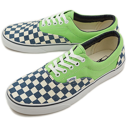 □□VANS vans sneakers CLASSICS ERA classical music gills (VAN DOREN) CHECKER  GREEN FLASH (VN-0QFK7SI SS13) 1126d2c68