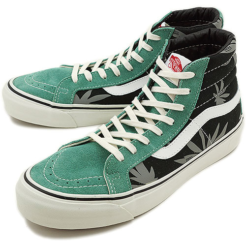 VANS vans sneakers VALUT OG SK8-HI LX-Volt スケートハイ ( PALM LEAF ) (  VN-0OZE7NL SS13 ) BLACK BERYL GREEN fs3gm 37dcb61cf