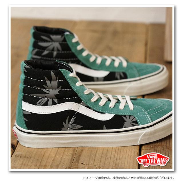 bb9efdc8cc88 VANS vans sneakers VALUT OG SK8-HI LX-Volt スケートハイ ( PALM LEAF ) (  VN-0OZE7NL SS13 ) BLACK BERYL GREEN fs3gm