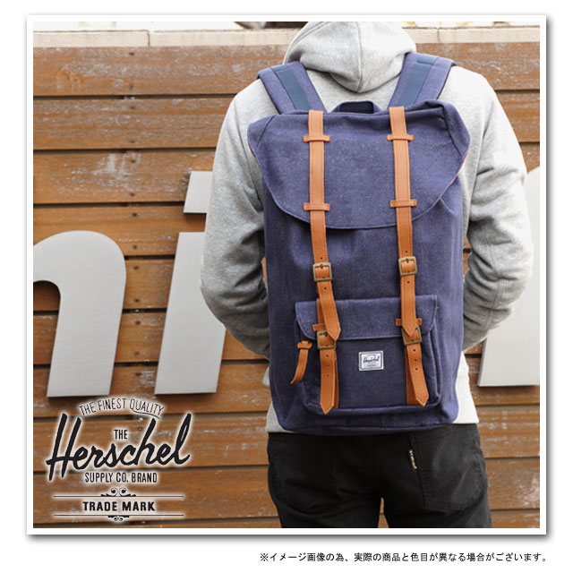 17fcb33a118 Herschel Supply Herschel supply bag Little America Denim little American  Denim Backpack Rucksack daypack DARK DENIM (H-125-32-09-OS HO 12)