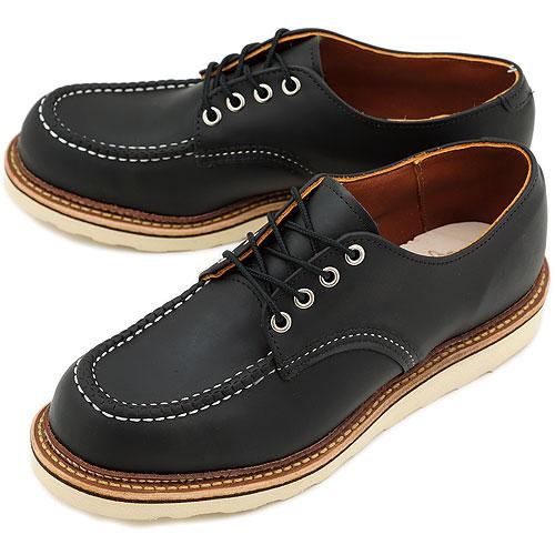 【返品サイズ交換可】レッドウィング ワーク オックスフォードシューズ ブーツ REDWING 8106 WORK OXFORD SHOES BLACK CHROME 靴【コンビニ受取対応商品】