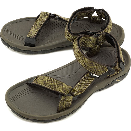 男子的TevaテバサンダルHurricane XLT M颶風XLT體育活動拖鞋WAVY TRAIL OLIVE(4156-WTOL SS13)fs3gm