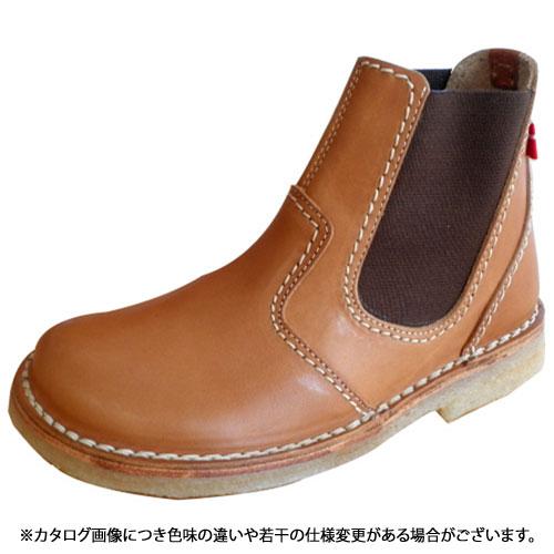 duck feet ダックフィート靴 (DUNSKE ダンスク) DN4650 レザーサイドゴアブーツ ブラウン靴 (DN4650200 SS13)【コンビニ受取対応商品】