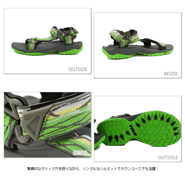 Time ■ sale! 20 %OFF! surprise ■ Teva Teva Sandals Terra Fi Lite Terra Fay Wright men's Sport Sandals CRACKED GREEN ( 1001473-CKGR SS13 )