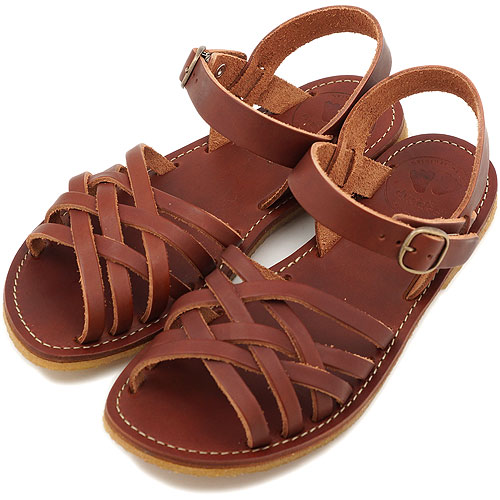 duck feet ダックフィート(DUNSKE ダンスク) DN0100 レザーサンダル 靴 ブラウン(DN0100200 SS13)【コンビニ受取対応商品】
