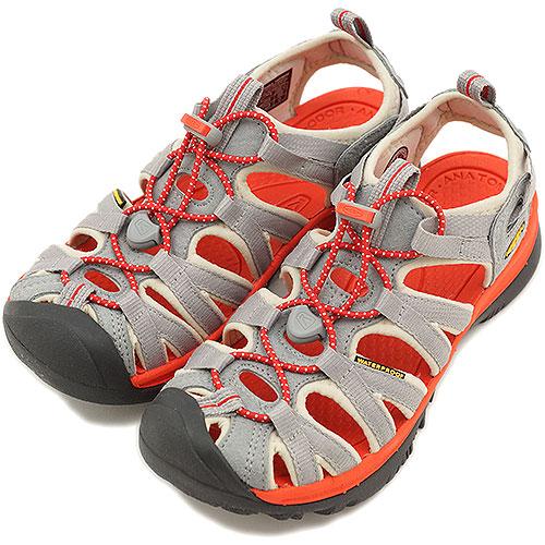 KEEN基恩WMN Whisper運動涼鞋我們標準打數婦女Neutral Gray/Spicy Orange(1008455 SS13)
