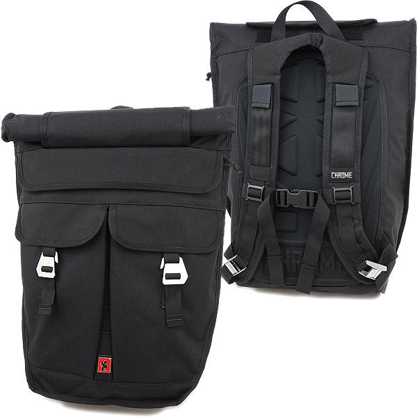 Chrome Bags Orlov Roll Top Backpack Black Cr104bk0036 Ss13