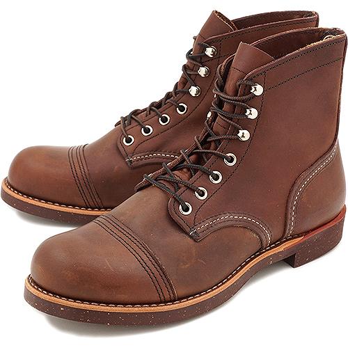 【返品サイズ交換可】レッドウィング アイアンレンジ ワークブーツ REDWING 8081 IRON RANGE AMBER HARNESS 靴