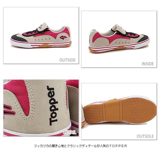 Topper TOPPER GOAL sneakers goal PNK/WHT ( 197500 FW13 ) fs3gm
