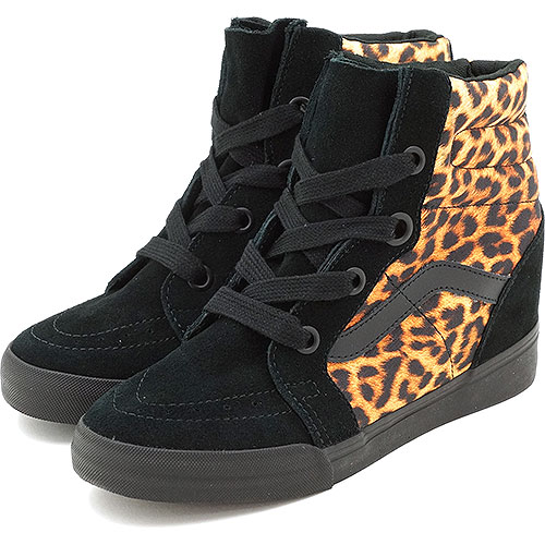 b8dd5e20dbf33f □□VANS vans sneakers CLASSICS SK8-HI WEDGE skating high wedge sole (LEOPARD)  BLACK (VN-0UDH0K3 FW13)