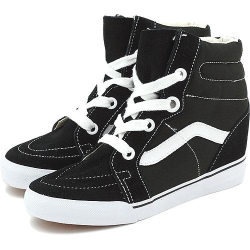 97ffabc522d986 □□VANS vans sneakers CLASSICS SK8-HI WEDGE skating high wedge sole BLACK TRUE  WHITE (VN-0UDH6BT FW13)