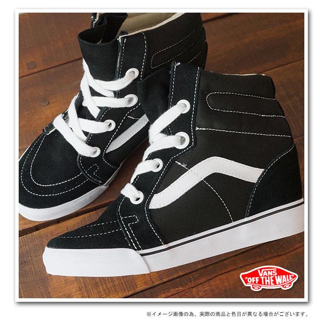 □□VANS vans sneakers CLASSICS SK8-HI WEDGE skating high wedge sole  BLACK TRUE WHITE (VN-0UDH6BT FW13) 3cedc4649b