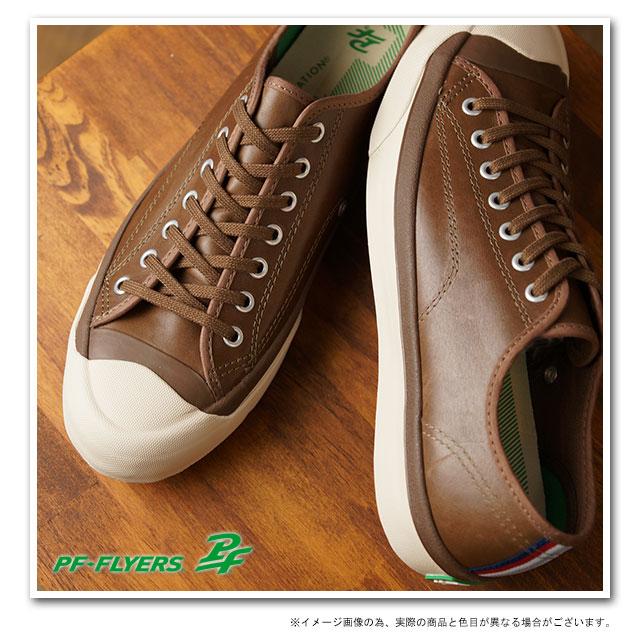 PF FLYERS PF fryers sneakers ALL COURT oar coat Brown Leather (PM13AC3B FW13)