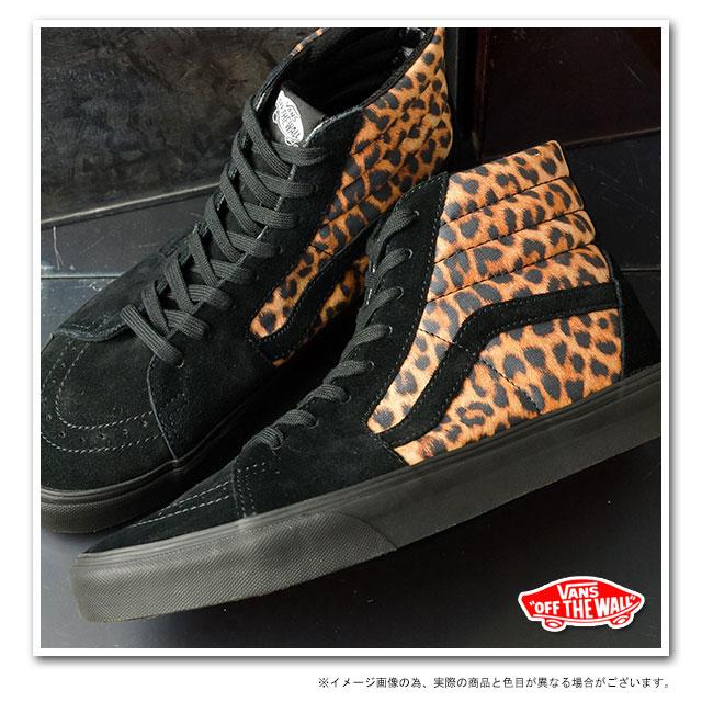 □□VANS vans sneakers CLASSICS SK8-HI skating high (LEOPARD) BLACK BLACK  (VN-0TS975O FW13) 680b5ea54