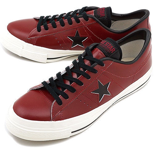 CONVERSE Converse sneakers ONE STAR J one star Japan burgundy   black  (32346612 FW13) fs3gm 3473a905a