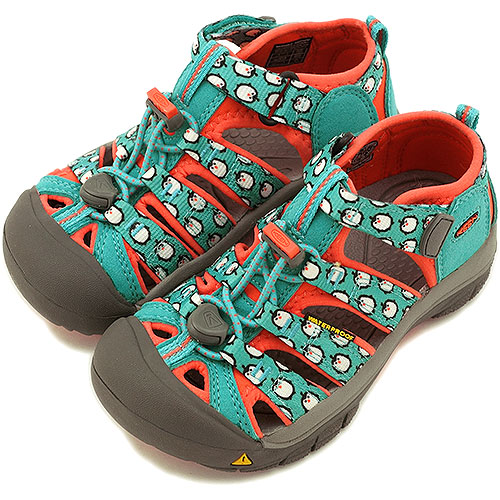 KEEN Kean sandal TODDLER Newport H2 water shoes Newport H2 toddler (kids  size) Baltic Hot Coral Penguins (1009941 SS14)