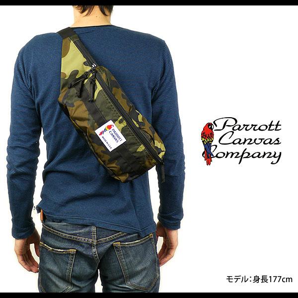 a768becdb420 PARROTT CANVAS Parrott canvas Fanny Pack hip ( West bag diagonally over  shoulder bag ) ( IMEX10-13 ) CAMO/BLACK fs3gm