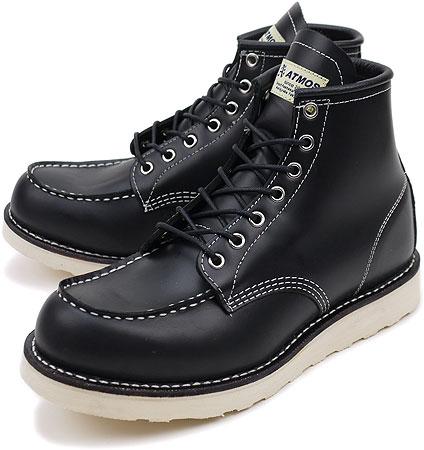c1e68ea643eb4 ■■ATMOS X CEDAR CREST MOC TOE BOOTS atto- MOS X Cedar Crest mock toe work  boots BLACK LEATHER (UB0410299M FW10)