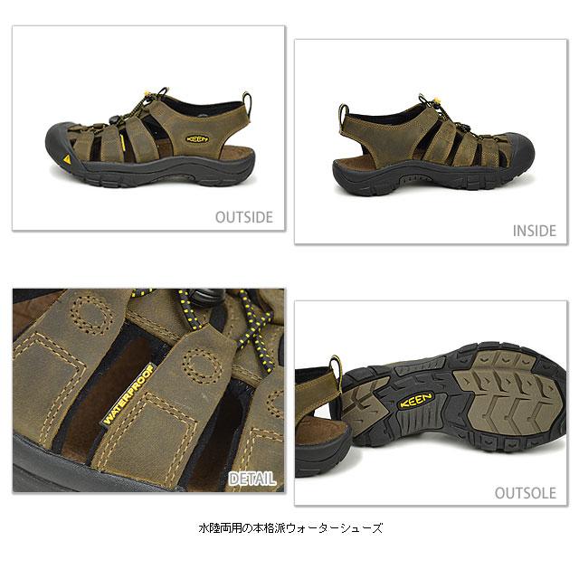 KEEN keen Newport MNS Sport Sandals Newport men's Bison ( 1001870 ) fs3gm