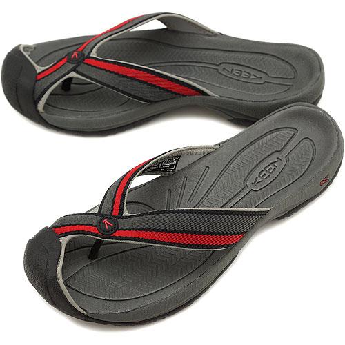 d189bc1d6616 KEEN Kean MENS Waimea H2 sports sandal ワイメア H2 men Black Pompeian Red  (1002110-BKPP SS12)