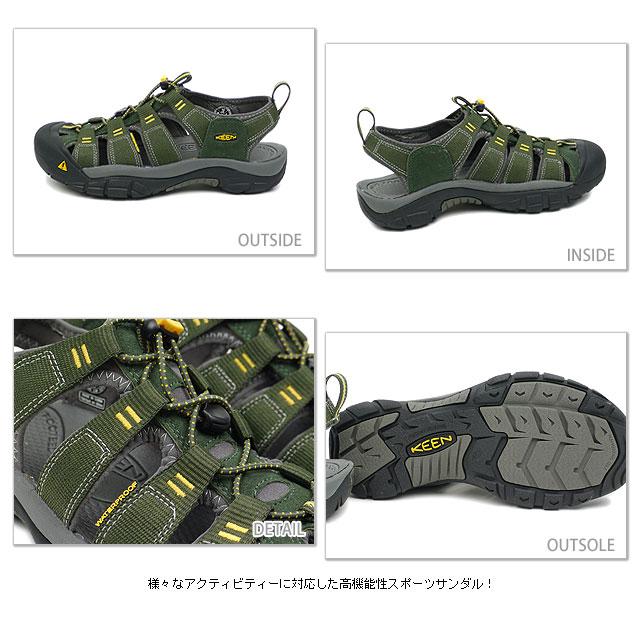 KEEN keen MENS Newport H2 Sport Sandals Newport H2 men's Forest Night/Gargoyle ( 1001925 ) fs3gm