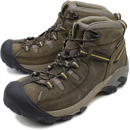 117d4711ac8 KEEN keen Targhee II Mid MNS trekking boots ターギー 2 mid men's Black  Olive/Yellow ( 1002375 FW10 ) fs3gm