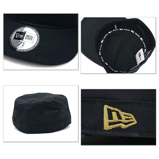 Gold NEWERA new era Cap CAP Cap WM-01 military cap black flag (SC N0000190) (NEW ERA) きゃっぷ CAP and