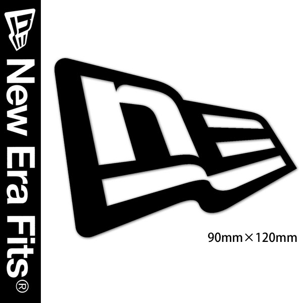 Newera newera newera sticker die cut stickers フラッグロゴ black sc n0005943 new era fs3gm