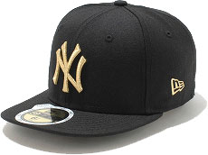 NEWERA new era NEW ERA kids KIDS 59FIFTY NY Yankees COLOR CUSTOM Cap Black / metallic gold CAP ( N0003916 ) fs3gm