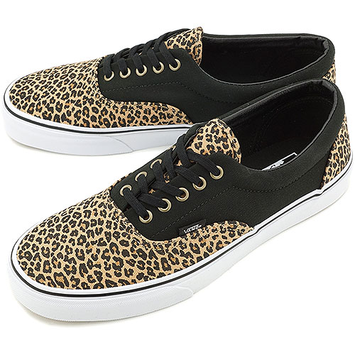 vans classic slip on shoes leopard herringbone