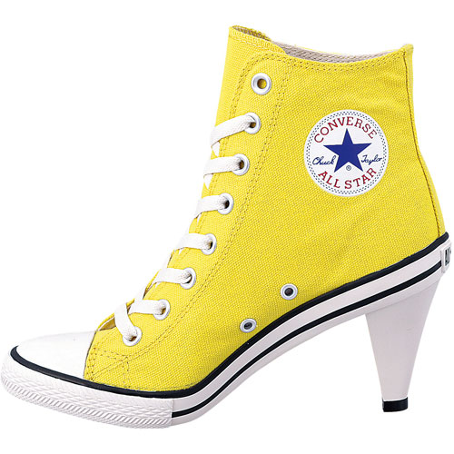 CONVERSE Converse sneakers ALL STAR HEEL HI all-stars heel high yellow (32098163 SS14)