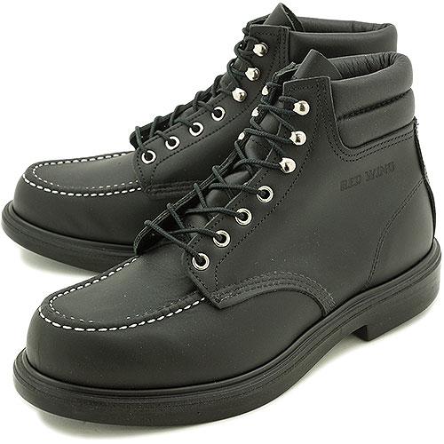 【返品サイズ交換可】レッドウィング スーパーソール 6インチ モックトゥ ワークブーツ 8133 REDWING SUPER SOLE 6 MOC-TOE BLACK-CHROME 靴【コンビニ受取対応商品】