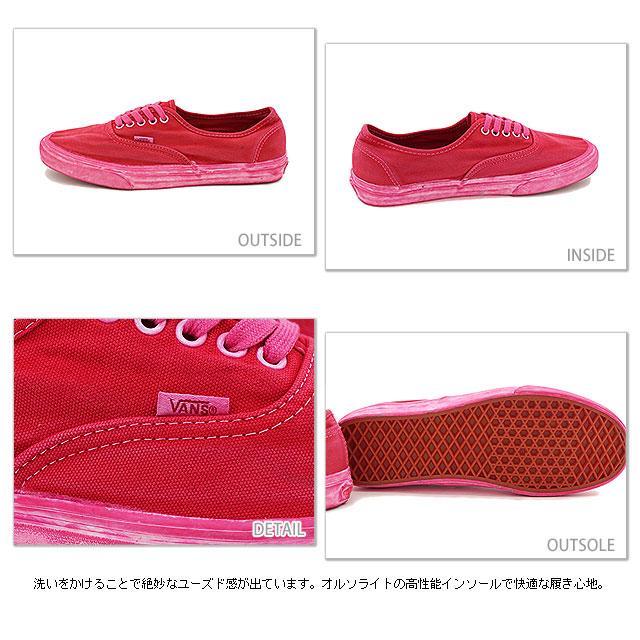 4d91f85c03 □□VANS vans sneakers CALIFORNIA AUTHENTIC CA California authentic (OVER  WASHED) CHILI PEPPER (VN-0JWIBQP SS14)