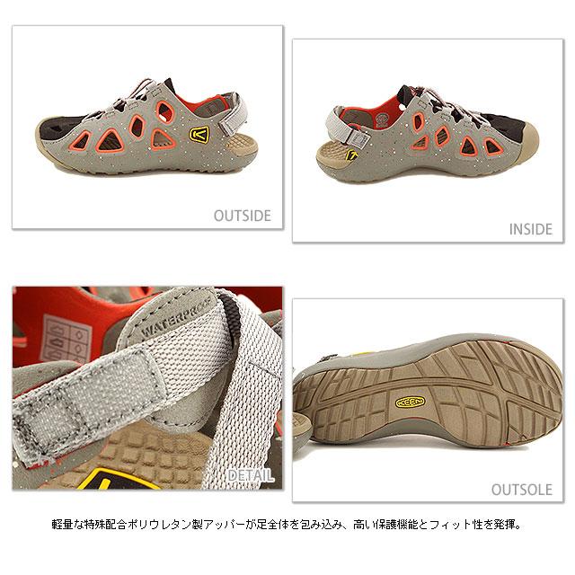 5af20c8b9ec1 KEEN Keen Sandals WMN Class 6 water shoes class 6 women s Neutral Gray Hot  Coral (1011028 SS14)
