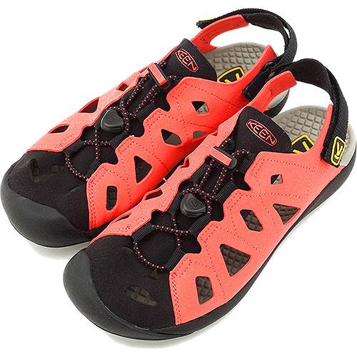 e6e5901cebed KEEN Kean sandal WMN Class 5 water shoes class 5 women Hot Coral Yellow  (1011035 SS14)