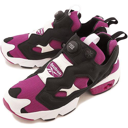 Reebok Reebok sneakers PUMP FURY ポンプフューリー BRAZEN BERRY BLACK WHITE (M40933  SS14) 1af555db7