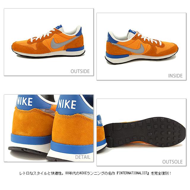 separation shoes b3cea c3b11 ... NIKE nike sneakers INTERNATIONALIST internationalist kumquat   silver   military  blue   summit white   silver