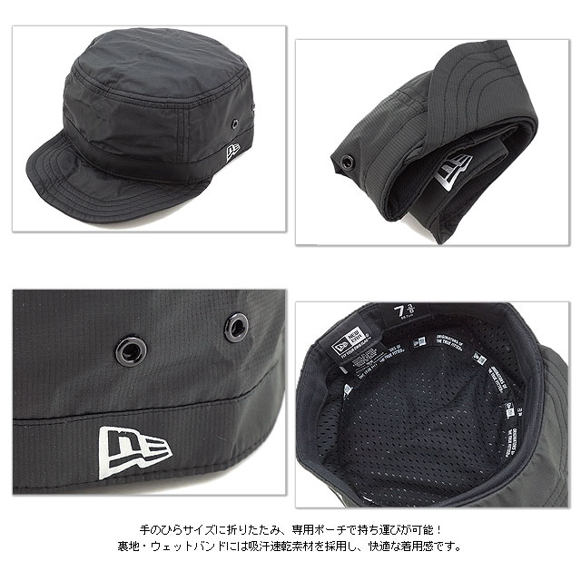 NEWERA新埃拉NEWERA盖子WM-01 Packable miritariwakukyappupakkaburuburakku(N0019482 SS14)(NEW ERA)