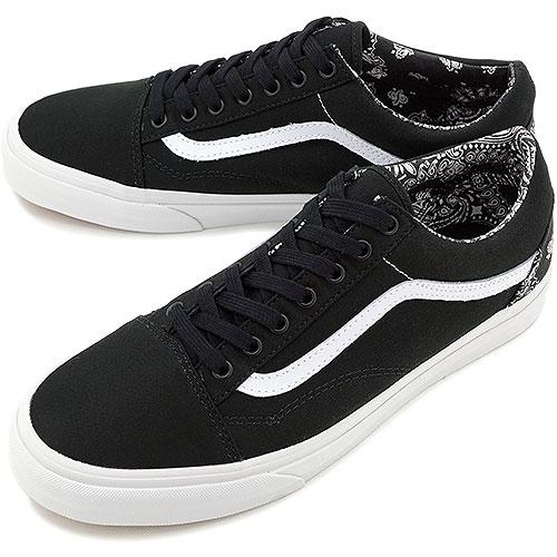 □□VANS vans sneakers CLASSICS OLDSKOOL classical music old school (Bandana)  black true white (all canvas) (VN-0VOKD9S SS14) 83b320e6ee8a