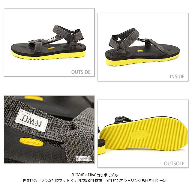 完売コラボモデル SUICOKE×TIMAI スイコック×ティマイ サンダル 靴 DEPA V vibramフットベットMVSUzpq