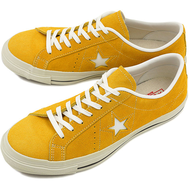 a47642e9fca54b mischief  CONVERSE Converse sneakers ONE STAR J SUEDE one star suede (made  in Japan) yellow   white (32356803 SS15)  Converse