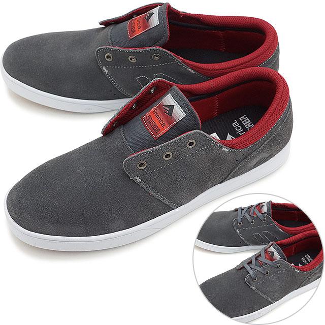 Emerica THE FIGUEROA Skater Chaussures Sneaker Grey Bourgogne