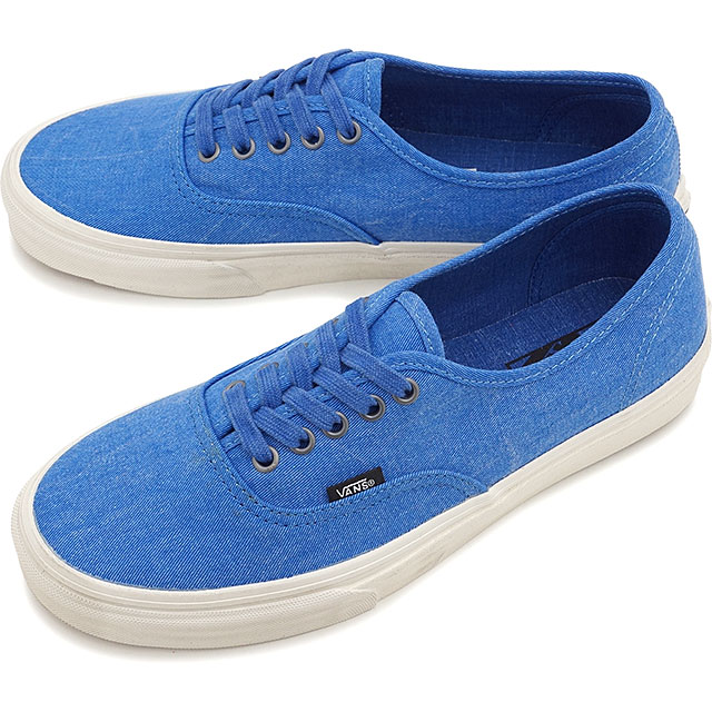 VANS vans sneakers mens Womens CLASSICS AUTHENTIC authentic ( OVERWASHED )  NAUTICAL BLUE/TRUE WHITE ( VN-0ZUKFIZ SS15 )