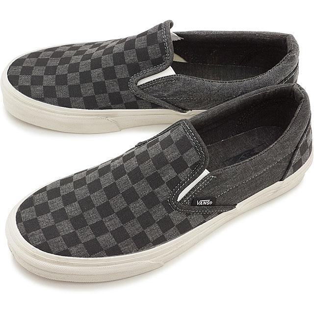 Vans CLASSIC SLIP ON Classics overwashed black grey checker