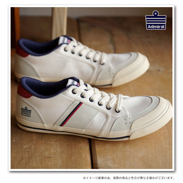 Admiral Casual Sneakers INOMER Ivory / Navy/ Red (SJAD1509-341004)